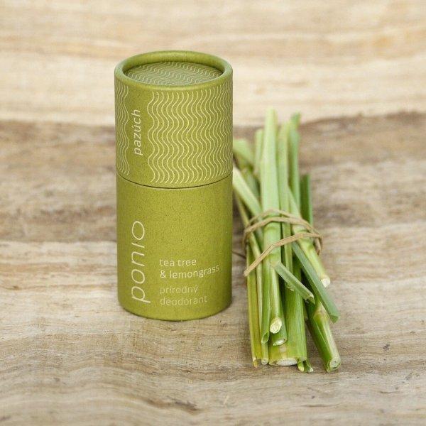 (EXP: 09/2021) Ponio přírodní deodorant - Tea Tree and Lemongrass, 60 g