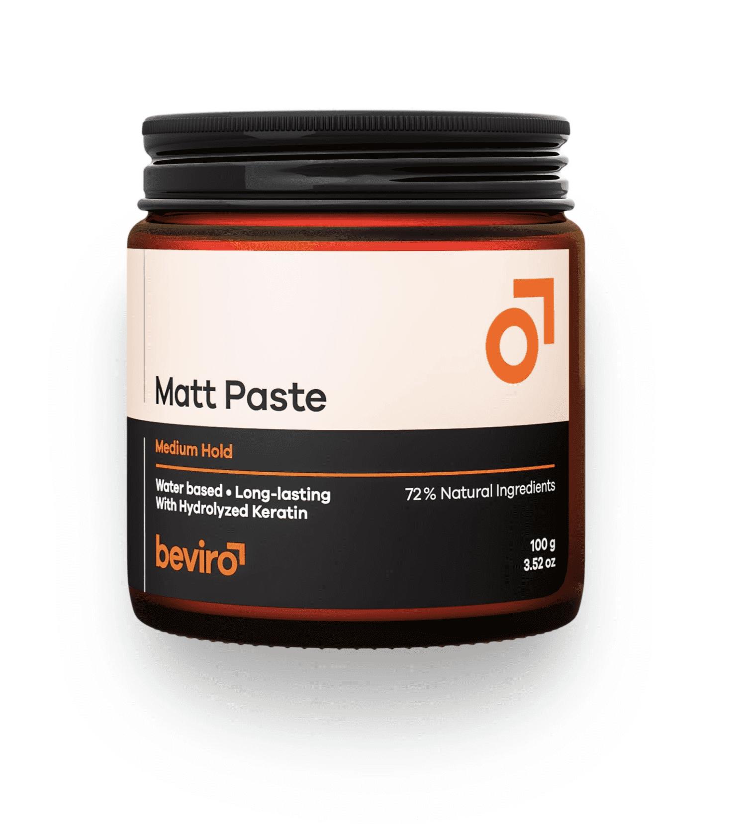 Be-Viro Matt Paste Medium Hold - matná pasta na bázi vody se střední fixací, 100g