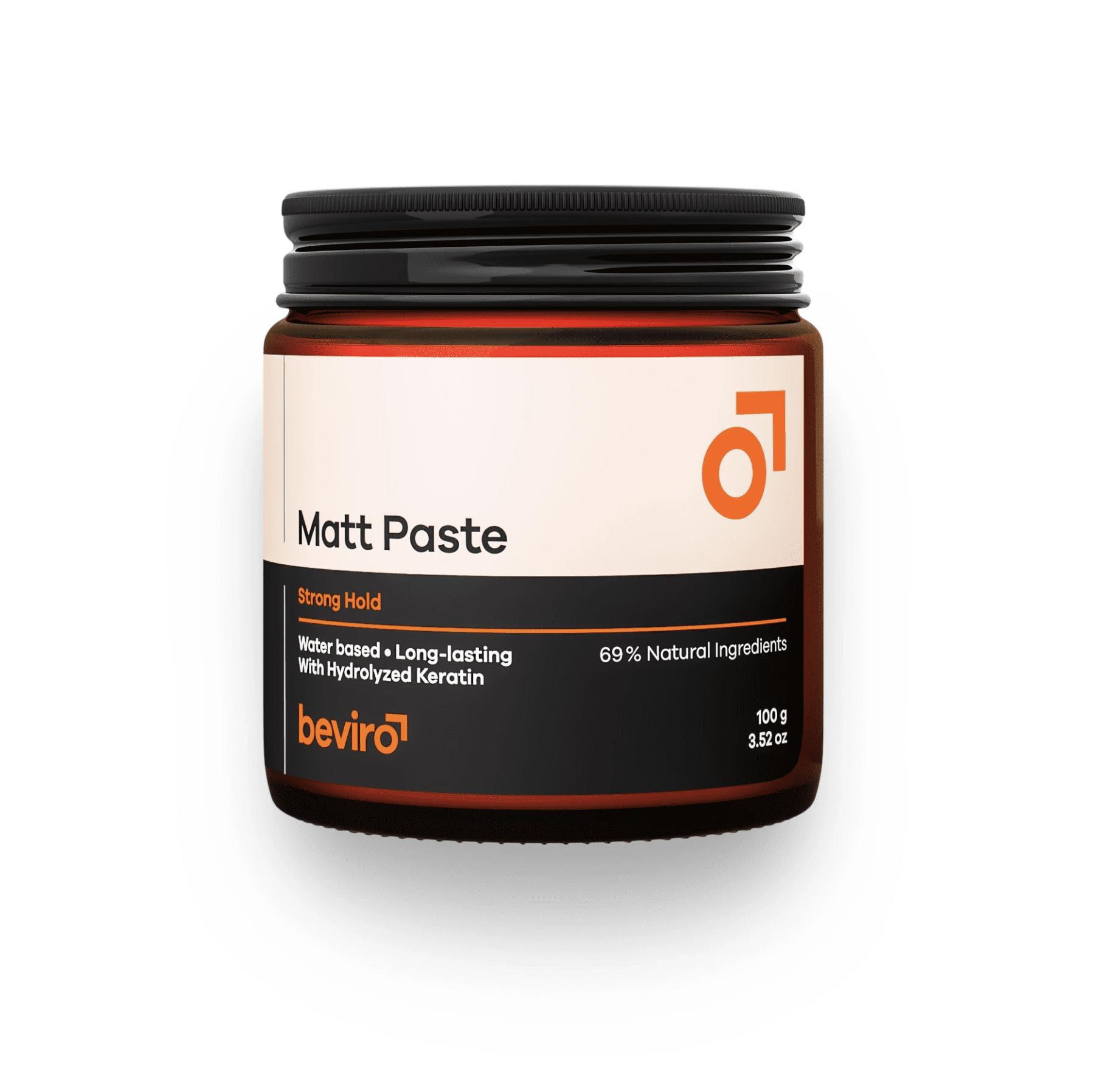 Be-Viro Matt Paste Strong Hold - matná pasta na vlasy na bázi vody se silnou fixací