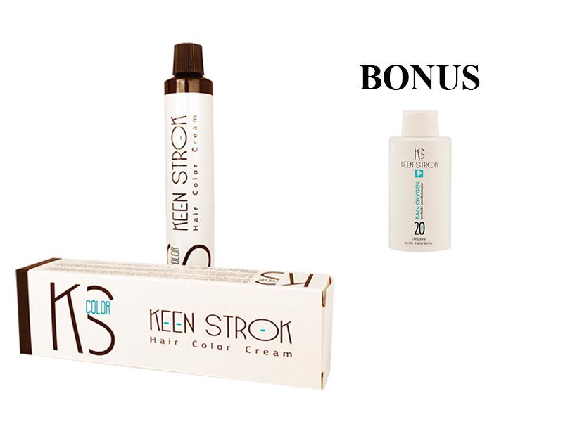 AKCIA: 2x Keen Strok Color - profesionálna farba na vlasy s kys. hyalurónovou a kolagénom, 60 ml + peroxid podľa vlastného výberu, 150 ml