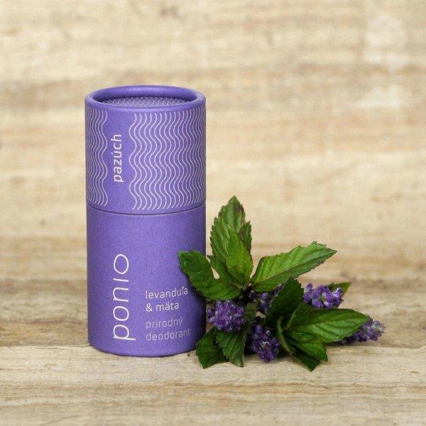 (EXP: 20.10.2021) Ponio prírodný deodorant - Levanduľa a mäta, 60 g