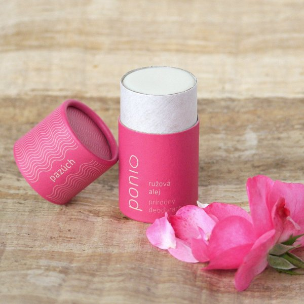 (EXP: 20.10.2021) Ponio přírodní deodorant - růžová alej, 60 g
