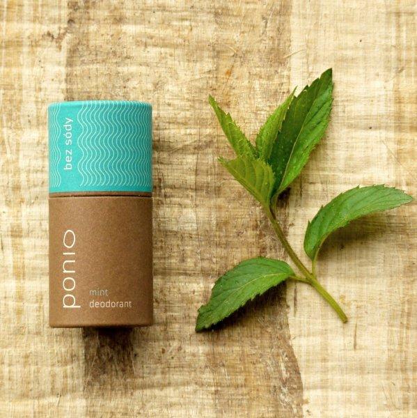 (EXP: 22.10.2021)Ponio prírodný deodorant - sodafree, vôňa mint,  60 g