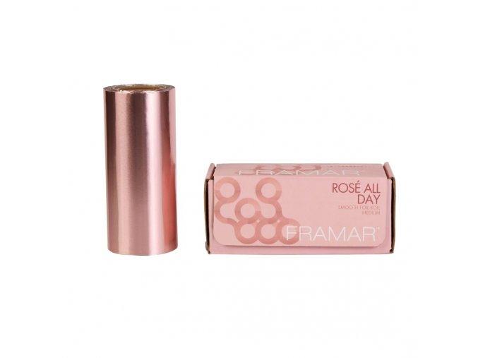 Framar R-SML-MRG Rosé All Day Smooth Foil Roll Medium - hladký alobal, stredne pevný v svetlo ružovej farbe, 97 m